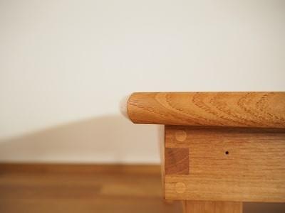 カマボコ面のちゃぶ台天板