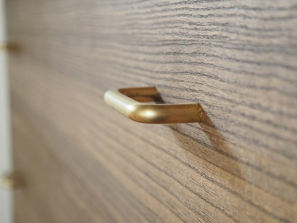 真鍮(黄銅)製の取っ手、引手、つまみ