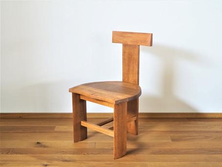 ナラ材の小椅子 リペア R-3