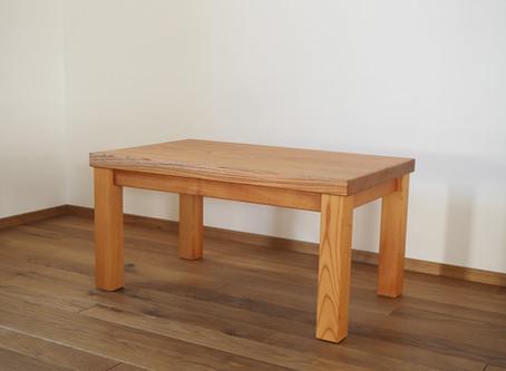 ケヤキの一枚板ローテーブル T-5