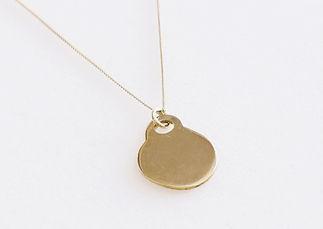 Round Golden Necklace