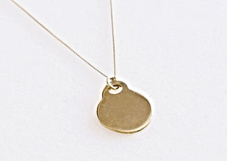 Round Golden Necklace
