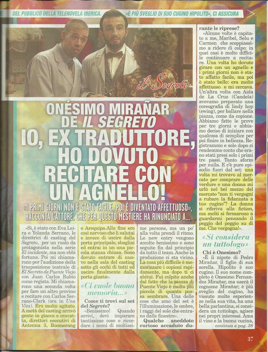 ENTREVISTA REVISTA ITALIANA TOP 3/4