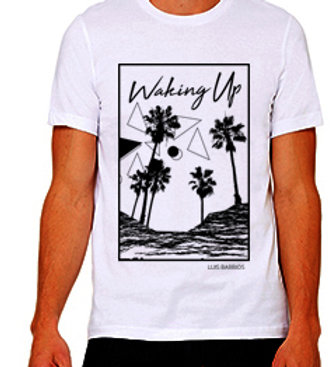 "Luis Barrios ""Waking Up"" White T"
