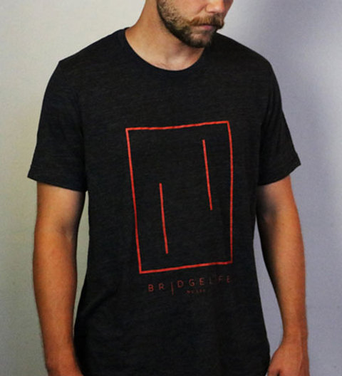 Bridgelife Music Charcoal Black T