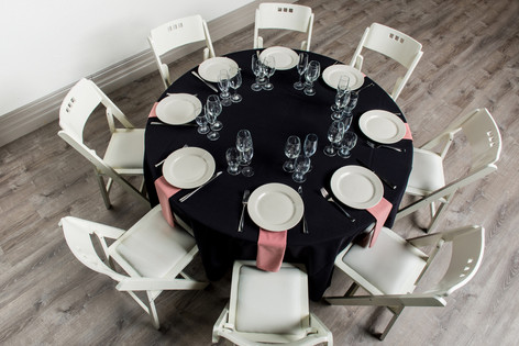 Black Table + Dusty Rose Napkins