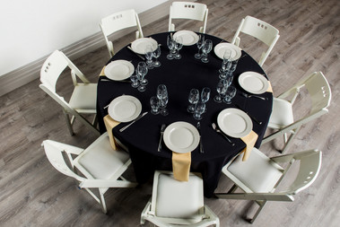 Black Table + Maize Napkins
