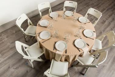 Sandlewood Table + Ivory Napkins