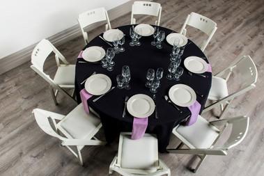Black Table + Violet Napkins