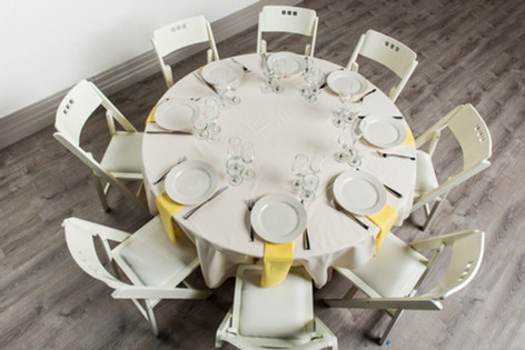 Ivory Table + Yellow Napkins