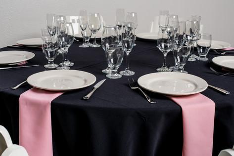 Black Table + Pink Napkins