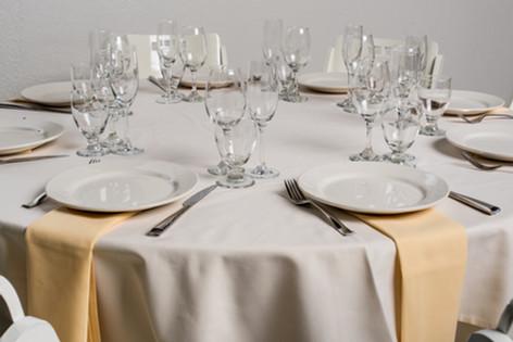 Ivory Table + Maize Napkins