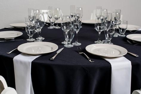Black Table + White Napkins