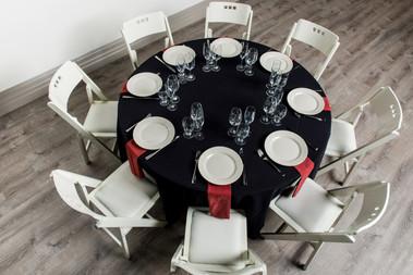 Black Table + Rust Napkins