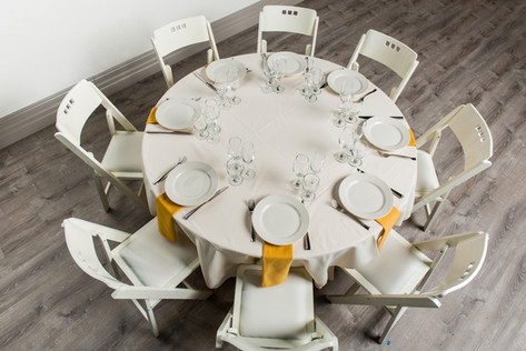 Ivory Table + Gold Napkins