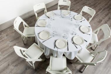 White Table + White Napkins