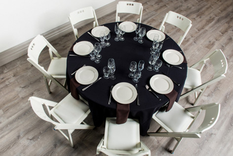 Black Table + Brown Napkins