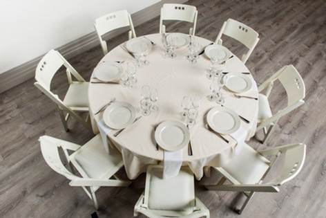 Ivory Table + White Napkins