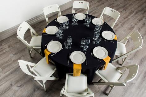 Black Table + Gold Napkins