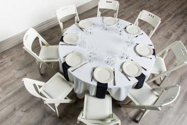White Table + Black Napkins