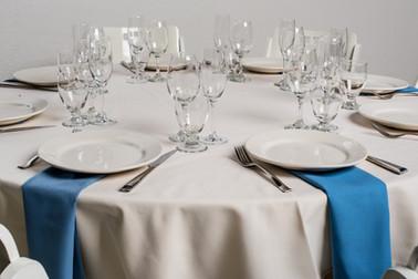 Ivory Table + Wedgewood Blue Napkins