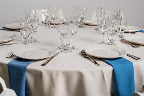 Ivory Table + Wedgewood Napkins