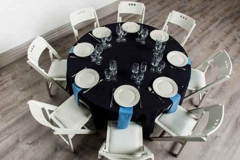 Black Table + Wedgewood Blue Napkins