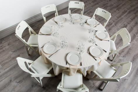 Ivory Table + Ivory Napkins