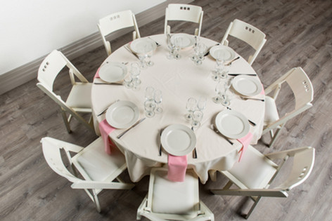 Ivory Table + Pink Napkins