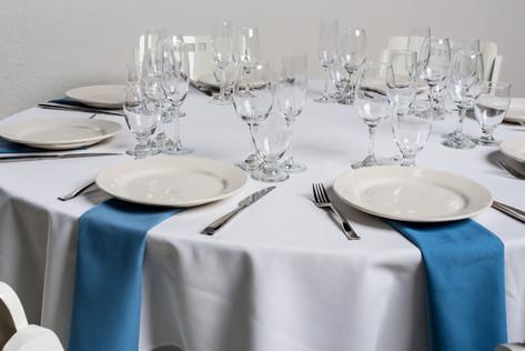 White Table + Wedgewood Blue Napkins