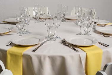 Ivory Table + Yellow Napkins