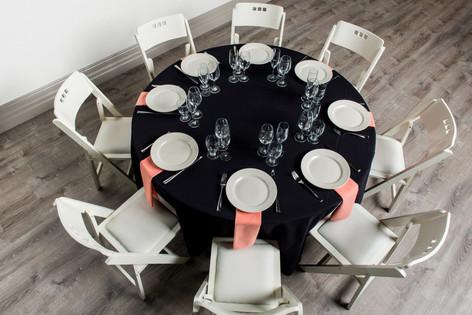 Black Table + Peach Napkins