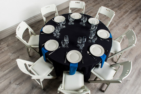 Black Table + Royal Blue Napkins