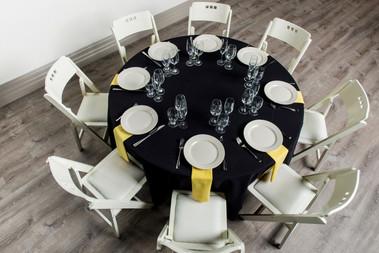 Black Table + Yellow Napkins