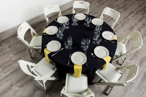Black Table + Yellow Napkins
