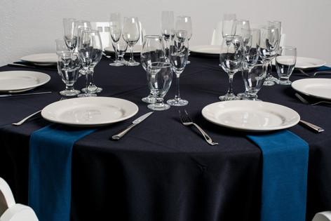 Black Table + Navy Napkins