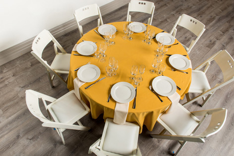 Gold Table + Ivory Napkins