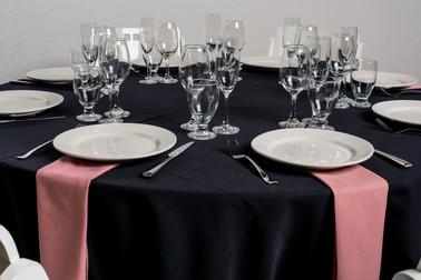Black Table + Dusty Rose Napkins