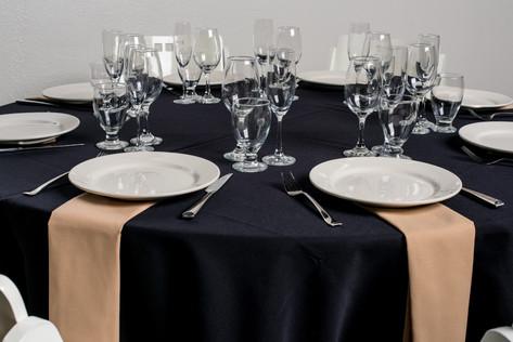 Black Table + Sandlewood Napkins