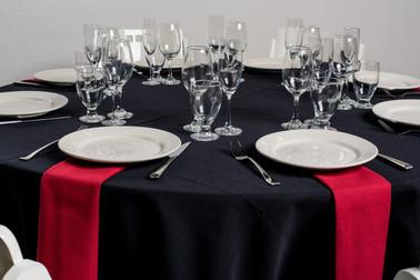 Black Table + Red Napkins