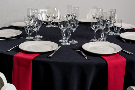 Black Table + Red Napkins