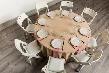 Sandlewood Table + Dusty Rose Napkins