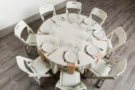 Ivory Table + Sandlewood Napkins
