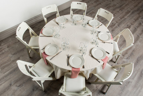 Ivory Table + Dusty Rose Napkins