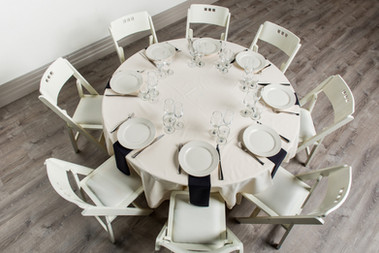 Ivory Table + Black Napkins