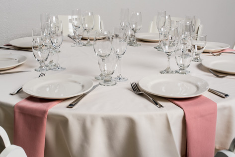 Ivory Table + Dusty Rose Napkins