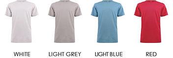 02-03.2 Unisex T-Shirt - Colour Chart 1@