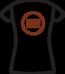 02-01.8 Womens T-shirt - Logo Placement