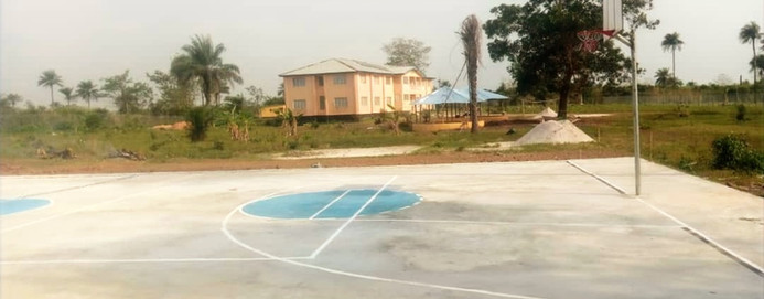 The court, which can be used by all of our girls at PGHS , has the names of our partners painted on it.