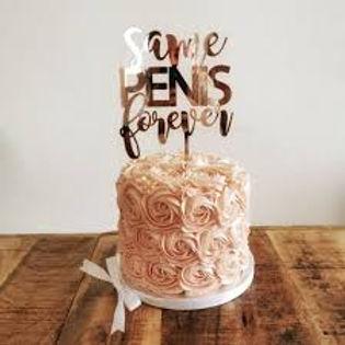 Same PENIS forever - Polterabend Hochzeit - Cake Topper - Tortenstecke Typ 2